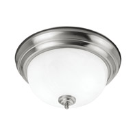 Livex Lighting Coronado 3 Light Ceiling Mount in Brushed Nickel 7119-91