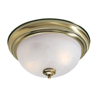 Livex Lighting North Port 2 Light Ceiling Mount in Antique Brass 7117-01