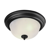 Livex Lighting North Port 2 Light Ceiling Mount in Black 7118-04