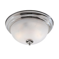 Home Basics 2 Light 11 inch Polished Chrome Ceiling Mount Ceiling Light