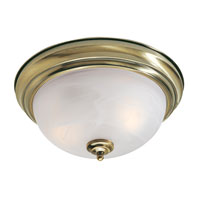 North Port 3 Light 15 inch Antique Brass Ceiling Mount Ceiling Light