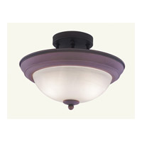 Livex Lighting Home Basics 2 Light Ceiling Mount in Weathered Brick 7128-18
