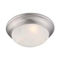 Livex Lighting Coronado 1 Light Ceiling Mount in Brushed Nickel 7301-91