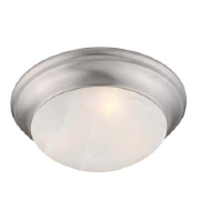 Livex 7304-91 Coronado 3 Light 17 inch Brushed Nickel Ceiling Mount Ceiling Light
