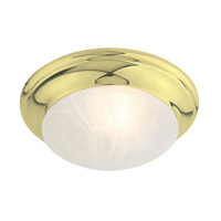 Livex Lighting North Port 1 Light Ceiling Mount in Polished Brass 7302-02