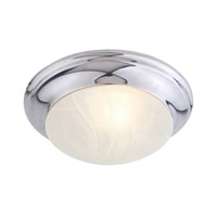 Livex 7302-05 Signature 1 Light 12 inch Polished Chrome Ceiling Mount Ceiling Light