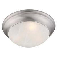Livex Lighting 7303-91 Omega 2 Light 14 inch Brushed Nickel Ceiling Mount Ceiling Light