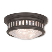 Livex 73051-07 Berwick 2 Light 11 inch Bronze Flush Mount Ceiling Light
