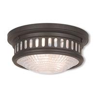Livex 73051-07 Berwick 2 Light 11 inch Bronze Flush Mount Ceiling Light