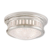 Livex 73051-35 Berwick 2 Light 11 inch Polished Nickel Flush Mount Ceiling Light