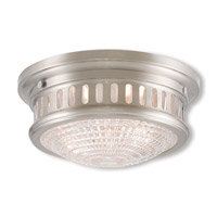 Livex 73051-91 Berwick 2 Light 11 inch Brushed Nickel Flush Mount Ceiling Light