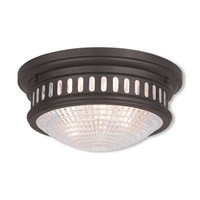 Livex 73052-07 Berwick 2 Light 13 inch Bronze Flush Mount Ceiling Light