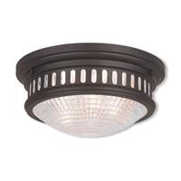 Livex 73052-07 Berwick 2 Light 13 inch Bronze Flush Mount Ceiling Light