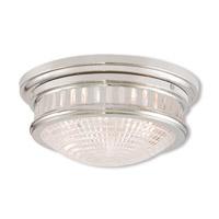 Livex 73052-35 Berwick 2 Light 13 inch Polished Nickel Flush Mount Ceiling Light
