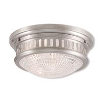Livex 73052-91 Berwick 2 Light 13 inch Brushed Nickel Flush Mount Ceiling Light