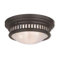 Livex 73053-07 Berwick 3 Light 15 inch Bronze Flush Mount Ceiling Light