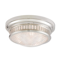 Livex Lighting 73053-35 Berwick 3 Light 15 inch Polished Nickel Ceiling Mount Ceiling Light