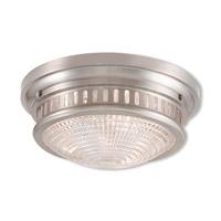 Livex 73053-91 Berwick 3 Light 15 inch Brushed Nickel Flush Mount Ceiling Light