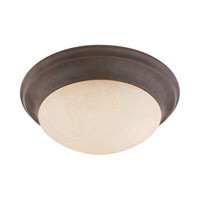 Livex Lighting Manchester 1 Light Ceiling Mount in Imperial Bronze 7312-58