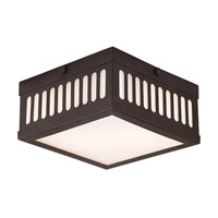 Livex 73162-07 Prentice 2 Light 8 inch Bronze Flush Mount Ceiling Light