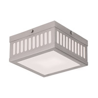 Livex Prentice 2 Light Flush Mount in Brushed Nickel 73162-91