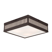 Livex Prentice 3 Light Flush Mount in Bronze 73164-07
