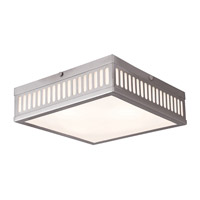 Livex Prentice 3 Light Flush Mount in Brushed Nickel 73164-91