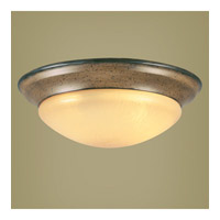 Livex Lighting Wellington 2 Light Ceiling Mount in Windsor Walnut 7331-62