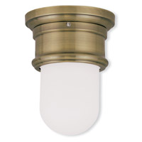 Livex Lighting Signature 1 Light Ceiling Mount in Antique Brass 7340-01