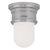 Livex Lighting Signature 1 Light Ceiling Mount in Chrome 7340-05