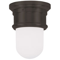 Livex 7340-07 Signature 1 Light 6 inch Bronze Ceiling Mount Ceiling Light