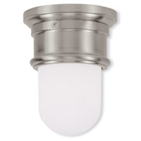 Livex Lighting Signature 1 Light Ceiling Mount in Brushed Nickel 7340-91