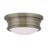 Livex Lighting Signature 2 Light Ceiling Mount in Antique Brass 7341-01 photo thumbnail