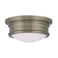 Livex 7341-01 Signature 2 Light 11 inch Antique Brass Ceiling Mount Ceiling Light