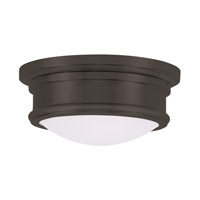 Livex 7341-07 Signature 2 Light 11 inch Bronze Ceiling Mount Ceiling Light