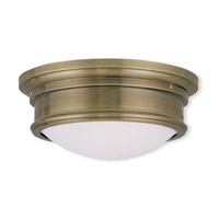 Livex 7342-01 Signature 2 Light 13 inch Antique Brass Ceiling Mount Ceiling Light