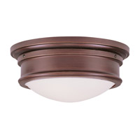 Livex 7342-70 Signature 2 Light 13 inch Vintage Bronze Ceiling Mount Ceiling Light photo thumbnail