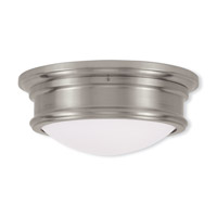 Livex 7342-91 Signature 2 Light 13 inch Brushed Nickel Ceiling Mount Ceiling Light