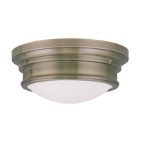 Livex 7343-01 Signature 3 Light 16 inch Antique Brass Ceiling Mount Ceiling Light