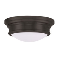 Livex Lighting Signature 3 Light Ceiling Mount in Bronze 7343-07