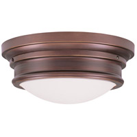 Livex 7343-70 Signature 3 Light 16 inch Vintage Bronze Ceiling Mount Ceiling Light photo thumbnail