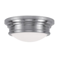 Livex 7343-91 Signature 3 Light 16 inch Brushed Nickel Ceiling Mount Ceiling Light