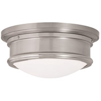 Livex 73441-91 Astor LED 11 inch Brushed Nickel Flush Mount Ceiling Light