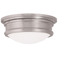 Livex Astor 1 Light Flush Mount in Brushed Nickel 73442-91