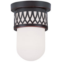Livex 7350-67 Westfield 1 Light 6 inch Olde Bronze Ceiling Mount Ceiling Light photo thumbnail