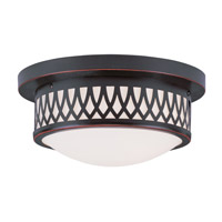 Livex 7351-67 Westfield 2 Light 11 inch Olde Bronze Ceiling Mount Ceiling Light