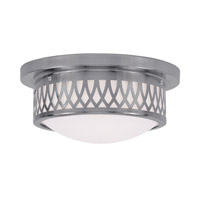 Livex 7351-91 Westfield 2 Light 11 inch Brushed Nickel Ceiling Mount Ceiling Light