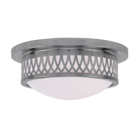 Livex 7352-91 Westfield 2 Light 13 inch Brushed Nickel Ceiling Mount Ceiling Light photo thumbnail
