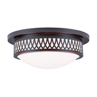 Livex Lighting Westfield 3 Light Ceiling Mount in Olde Bronze 7353-67