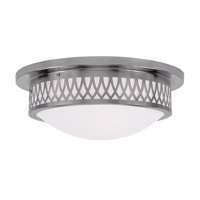 Livex 7353-91 Westfield 3 Light 15 inch Brushed Nickel Ceiling Mount Ceiling Light